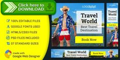 [ThemeForest]Free nulled download GWD | Tour & Travel HTML5 Banners - 07 Sizes from http://zippyfile.download/f.php?id=45023 Tags: ecommerce, ad html5, adventure banner, discount ad, doubleclick studio, gwd ad, holiday ad, holiday banner, html5 animated, multipurpose business banner, sports Ad template, tour and travel banner, tourism ad animated, travel template, vacation banner