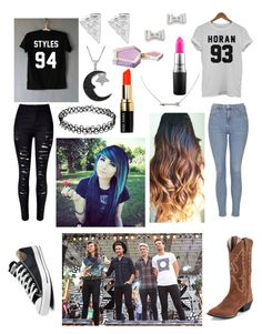 """""""Going to a One Direction concert with my bestie!"""" by one-direction-tumblr-girl on Polyvore featuring Topshop, Converse, Marc by Marc Jacobs, Jewel Exclusive, Bobbi Brown Cosmetics, MAC Cosmetics, women's clothing, women, female and woman"""
