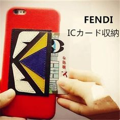 FENDIフェンディiphone7 ICカード収納ハードケース iphone 6s/6 plus カバー 個性 面白い