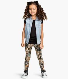 Cat print leggings -girls- H&M CA