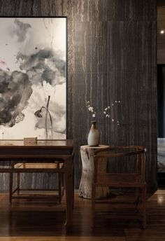 Oriental Chinese Interior Design Asian Inspired Living Room Home Decor Chinoiserie Hanging Painting http://www.interactchina.com/