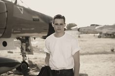 Reminds me of the Top Gun movie I loved Photographing this photoshoot!   #SeniorSession #Posing #Airplanes #Jets # Museums #TopGun