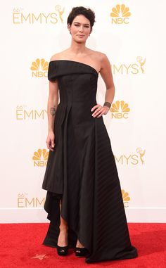 Game of Thrones' Lena Headey in Rubin Singer at the 2014 Emmys Red Carpet