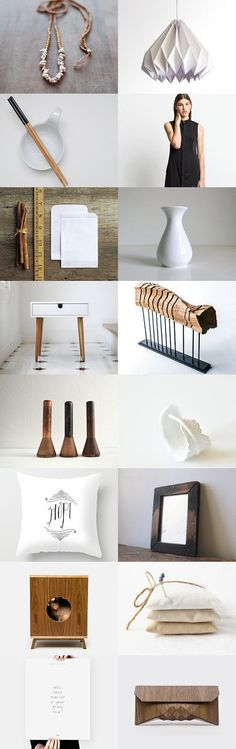 her home :: treasury by Barbara on Natural Accessories, Modern Rustic, Gift Guide, Neutral, Storage, Brown, Wood, Etsy, Furniture