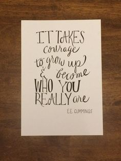 Hand Lettered EE Cummings Quote by alliewitdesigns on Etsy Ee Cummings Quotes, Hand Lettering Quotes, Organize, Motivation, Etsy, Ideas, Handwritten Quotes, Determination, Thoughts