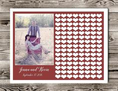 Wedding Guest Book alternative, Photo Guestbook, guest book with your photo, Engagement party guestbook, Guest Book poster,Rustic guest book