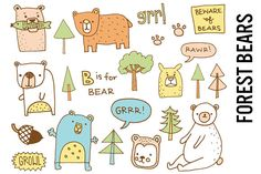 Forest Bears Nursery Illustrations by Pepper on Creative Market