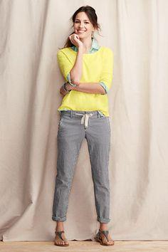 Women's Seersucker Pants from Lands' End - kinda summer cute