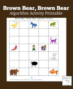 This Brown Bear, Brown Bear Algorithm activity will help young learners work on coding a familiar book.