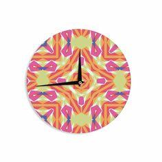 "Miranda Mol ""Summer Vibes "" Pink Blue Wall Clock from KESS InHouse"