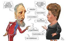 Tirinhas que eu gostaria de ter feito: Dilma e Fidel. Merece 1 Post!