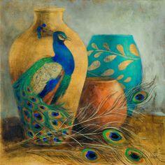 Peacock Vessels I Art Print