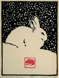 woodblock printmaking akihmbo: Happy New Year, 1999 Andrew Valko R., Born Prague, Czechoslovakia studied wood block printing in Japan with master printmaker Toshi Yoshida. Gravure Illustration, Illustration Art, Illustrations, Japanese Illustration, Japanese Prints, Japanese Art, Linocut Prints, Art Prints, Block Prints