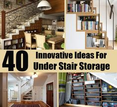 40 Innovative Ideas For Under Stair Storage