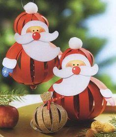mikulás karácsonyfa dísz papírból
