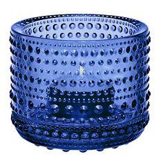 Buy Iittala Kastehelmi Votive Vase, H6cm, Blue Online at johnlewis.com