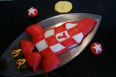 Tintin's rocket cake for the 7th birthday of my son