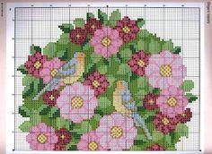 ♥Meus Gráficos De Ponto Cruz♥: Quadro Topiaria Floral em Ponto Cruz