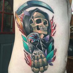 Grausame Sensenmann Tattoo Designs & Bedeutungen - Perfekt Spuk - Tatowierungen Cruel Grim Reaper Tattoo Designs & Meanings - Perfect Spooky Grim Reaper (or the angel of death) i Make Tattoo, S Tattoo, Tattoo Shop, Heather Moss, Grim Reaper Tattoo, Different Tattoos, Tattoo Designs And Meanings, Tattoo Trends, Skin Art