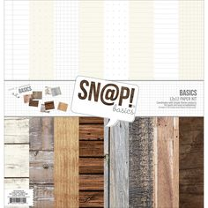 "Simple Stories Sn@p! Color Vibe Basics Wood & Notebook Paper Pack 12""x12"""