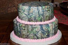 Id switch the pink to blazing orange Camo Birthday Cakes, Camo Cakes, Camo Wedding Cakes, Sweet 16 Birthday, 16th Birthday, Birthday Ideas, Sister Wedding, Our Wedding, Dream Wedding