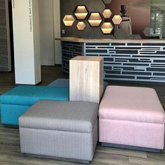 There is something about a finished product ⭐️ Pictured above: Four custom ottomans completed for @ssqdesign! .Info@ysd.co.za | www.ysd.co.za | 011 025 0725..#finishedproduct #ssqdesign #exhibition #installation #customfurniture #ottomans #pink #ihavethisthingwithpink #harringbone #turquoise #lightblue #lightwood #clientseating #waitingarea #finishedproject #lovepink #four #interiordesign #custom #bespokefurniture #furnituredesign #furnituremaker #interiorstyle #popofcolour #colourpop #yel Living Room Decor Furniture, Bedroom Decor, Bespoke Furniture, Furniture Design, Interior Styling, Interior Design, Waiting Area, Ottomans, Color Pop
