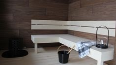 Copyright: Suomen Asuntomessut. Kuva: Piia Mäkilä. Seven Springs, Sauna Design, Spa Rooms, Corner Desk, Home And Family, Relax, Cottage, Saunas, Bath
