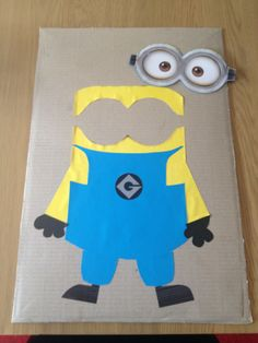Despicable Me Party, Pin the Goggles on the Minion Game Minion Games, Minion Theme, Minion Birthday, Despicable Me Party, Minions Despicable Me, Minion Party, 6th Birthday Parties, Birthday Bash, Birthday Ideas