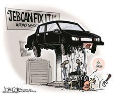 Jeb Can't Fix It, John Cole,The Scranton Times-Tribune,Jeb Bush, Jeb will fix it, GOP, 2016 election, Donald Trump, tea party