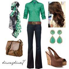 Tailored V-neck blouse