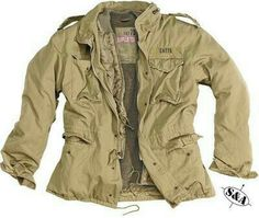 Vietnam War Era U.S. Army M-65 Field Jacket. This one is surplused from 'Surplus & Adventure' and is in the Desert Storm color.