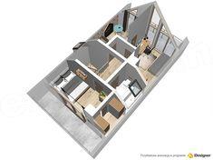 Projekt domu Malutki dr-S 79,48 m2 - koszt budowy 199 tys. zł - EXTRADOM Modern Barn House, Architect House, Construction, House In The Woods, Tiny House, Small Houses, House Plans, Backyard, Cabin
