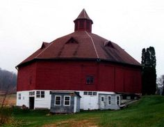 Round Barn  North of Pipin about 3.5 miles. CR N to Back Valley Rd. Go north 2.4 miles, then west on Lyle 0.2 miles, continue west on Balsam Ln .3 mile to the barn. Pepin Co WI