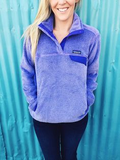 Patagonia Women's Re-Tool Snap-T Pullover- Tundra Purple