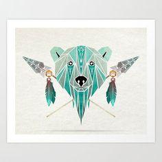 polar bear Art Print by Manoou