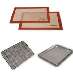 AmazonSmile: Artisan (2 pk.) Non-Stick Silicone Baking Mat Set, 16 5/8 x 11: Kitchen & Dining