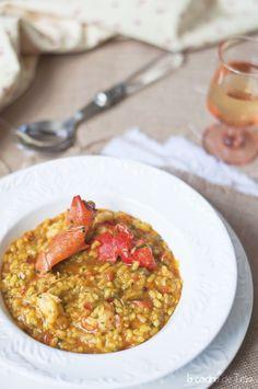 La cocina de Tesa: Arroz meloso con bogavante y gambones