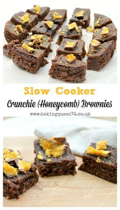 Slow Cooker Crunchie Brownies - so easy to make as a delicious treat