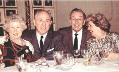 Left to right: Edna (Roy's wife), Roy, Walt, Lily (Walt's wife)