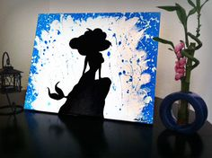 """Disney's The Little Mermaid Acrylic Painting on 20x16"""" Canvas Signed"""