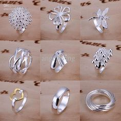 Good Selling 925 Sterling Silver Multi Styles Charms Rings Vintage Rings Size 7,8,9 Mixed from Angeloving,$1.21 | DHgate.com