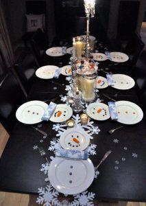 snowman christmas table decorations