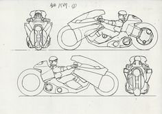 AKIRA set, Kaneda's Bike https://www.facebook.com/CharacterDesignReferences & http://www.pinterest.com/characterdesigh