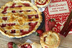 Strawberry rhubarb pie is a snap to make. The perfect blending of sweetness from the strawberries and tartness from the rhubarb, this recipe is a must have. Canning Recipes, Pie Recipes, Sweet Recipes, Rhubarb Recipes, Easy Strawberry Rhubarb Pie, Apricot Pie, Best Sweets, Eat Dessert First, Special Recipes