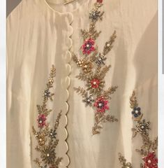 Order contact my whatsapp number 7874133176 Hand Embroidery Dress, Embroidery Suits Design, Couture Embroidery, Embroidery Fashion, Hand Embroidery Designs, Beaded Embroidery, Fashion Sketch Template, Pakistani Formal Dresses, Kurta Neck Design