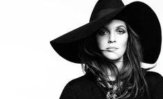Barrymore undercover. Hat, $995, Saint Laurent by Hedi Slimane. 212-980-2970. Necklace, Van Cleef & Arpels. vancleefarpels.com.   - HarpersBAZAAR.com