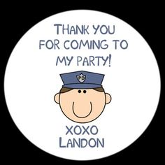 12 Custom Round 2 1/2 inch Stickers  POLICE by partyplace on Etsy, $5.00