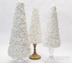 Snowy Candlestick Christmas Trees | AllFreeChristmasCrafts.com