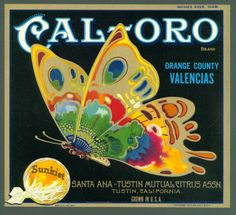 Vintage Cal-Oro crate label