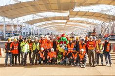 """""""Today I'm on the construction site to thank all 2,800 men working here. And to wish everybody a Happy New Year! 2015 will be the great year of Expo Milano 2015 World's Fair!"""" #Foody #Expo2015 #Milano #Italy"""